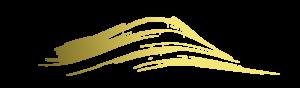 金 筆バナー-波